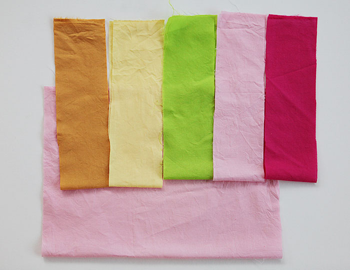Striped cotton drawstring gift bags for kids