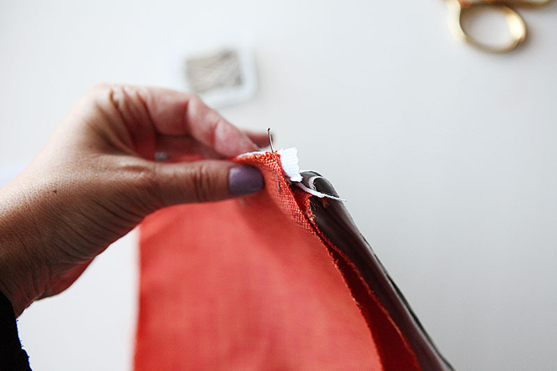 Easy lined zipper pouch