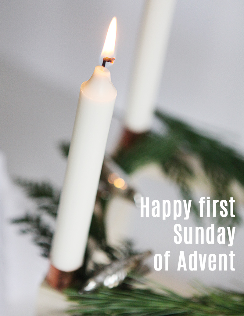Scandinavian cube advent candle stick