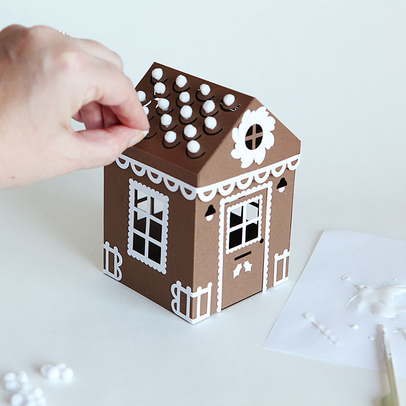 Gingerbread house accessory pack with free download pdf and svg