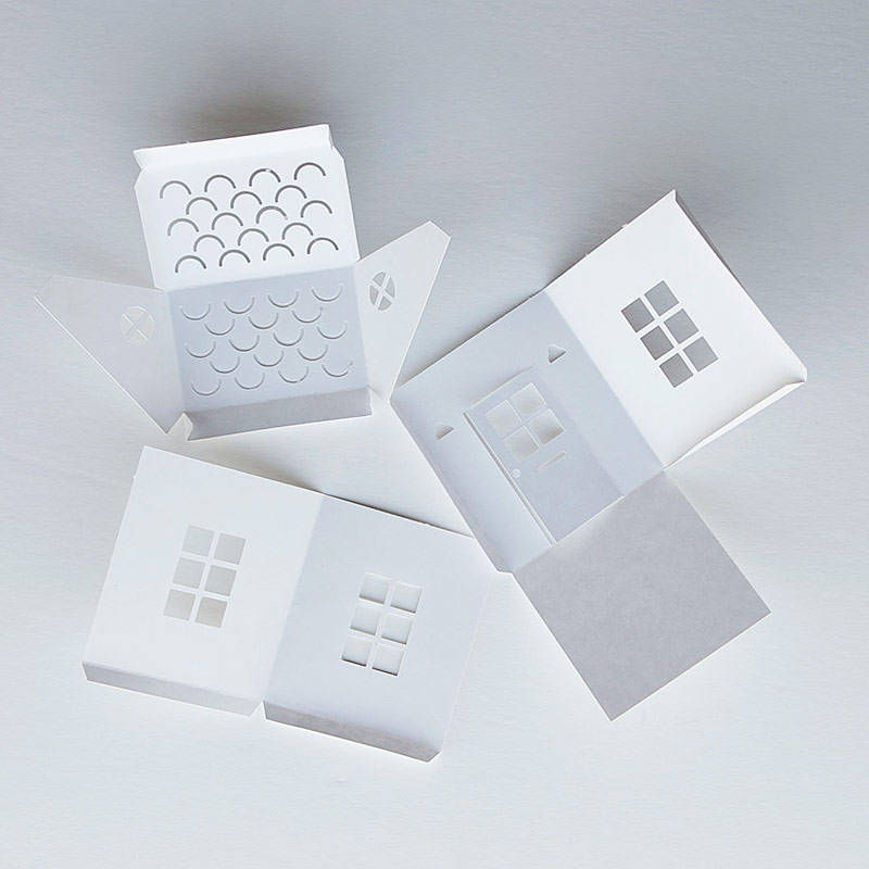 Tea Light Paper Houses  With Free Templates And Cut Files