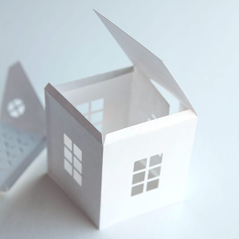 Paper House Template  SkiroPkIProTk