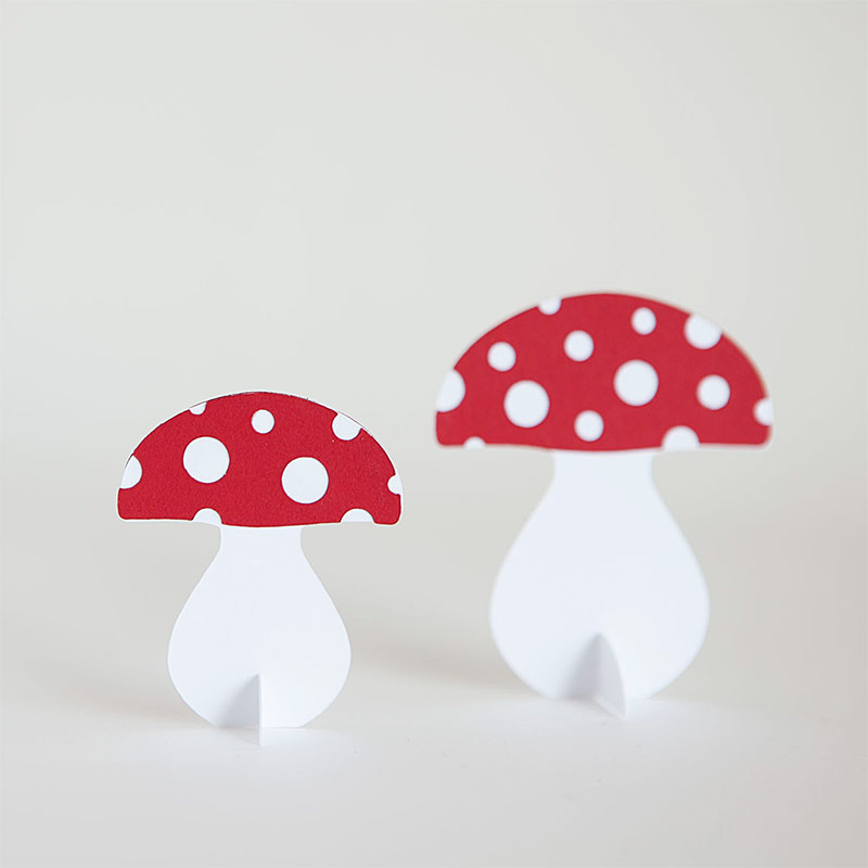 Make these charming toad stools a staple in your Christmas decor - free printable and cut files