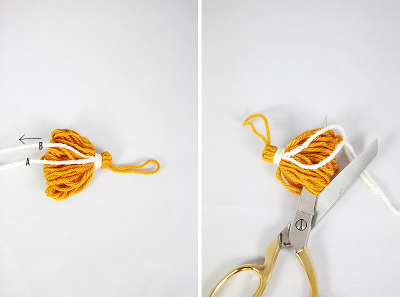DIY Wooden tassel maker and make a tassel without visible knot