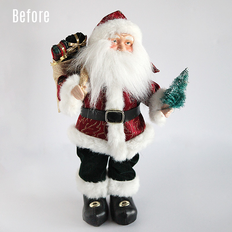 Santa makeover new clothes