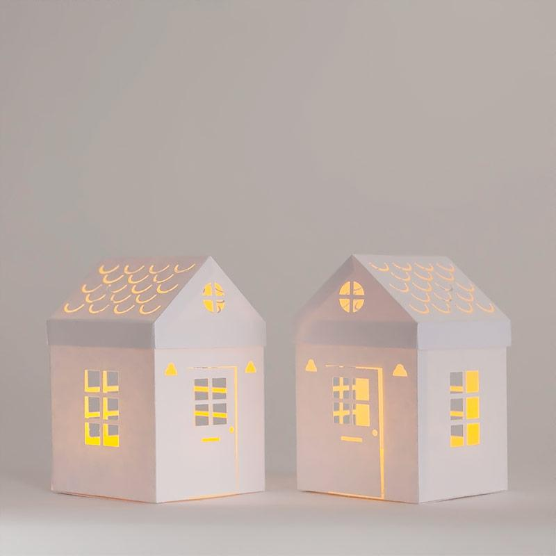 Light Paper Houses  With Free Templates And Cut Files