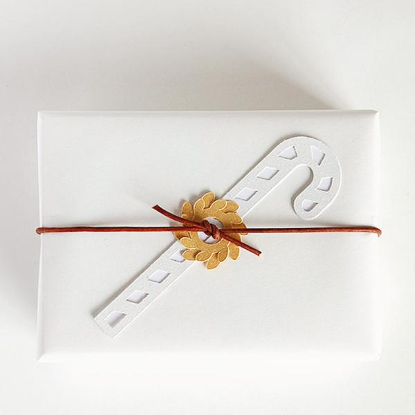 Candy cane gift tag - free cut files