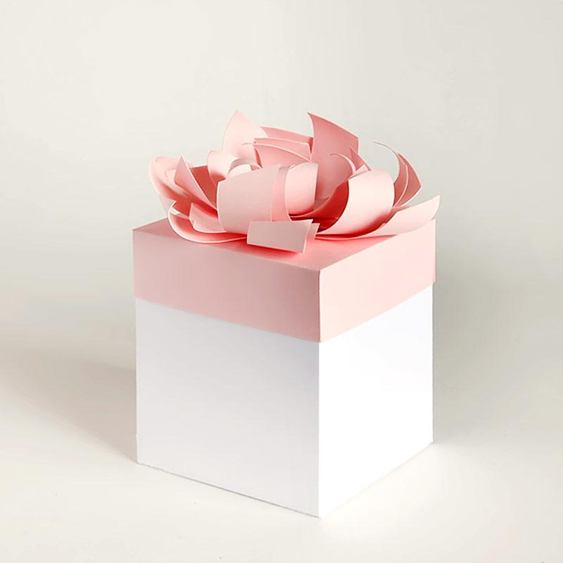 Gift card gift box with bow