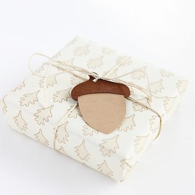 Acorn gift wrap and tag