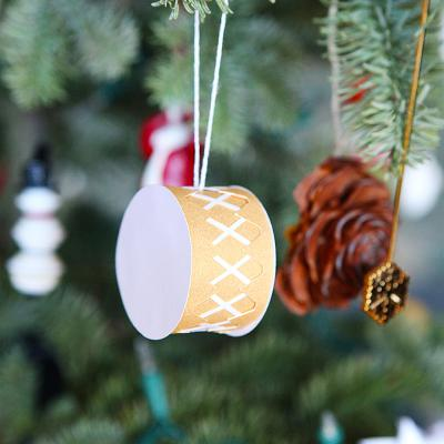 Christmas drum ornament