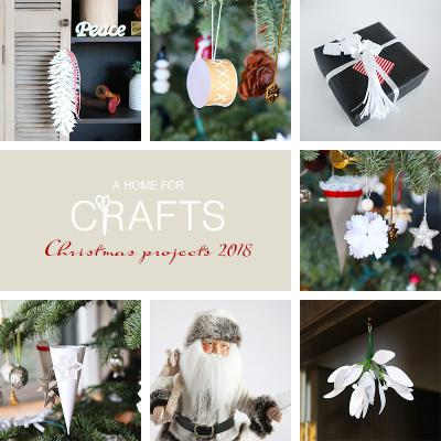Christmas projects 2018 with free cut files and pdfs.